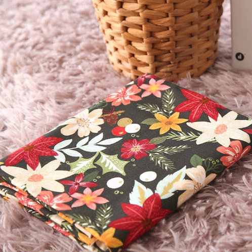 [Floral Pattern] Zinnia , 100% Cotton Fabric by the yard, DTP, Free shipping
