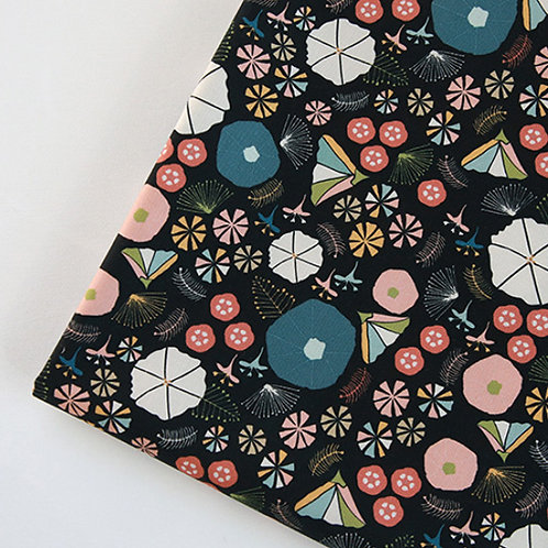 [Floral Pattern] Morning Glory print 100% Cotton Fabric by the yard DTP