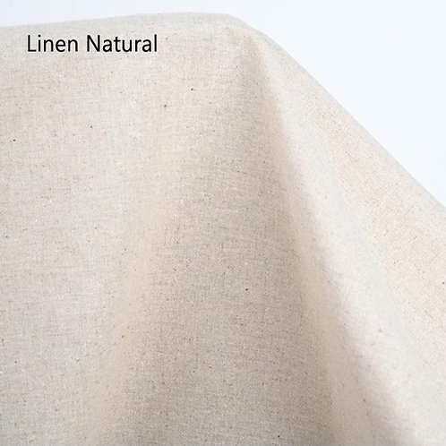 [Solid Colours] Linen Cotton Fabric by the yard, 137cm wide, Free Shipping