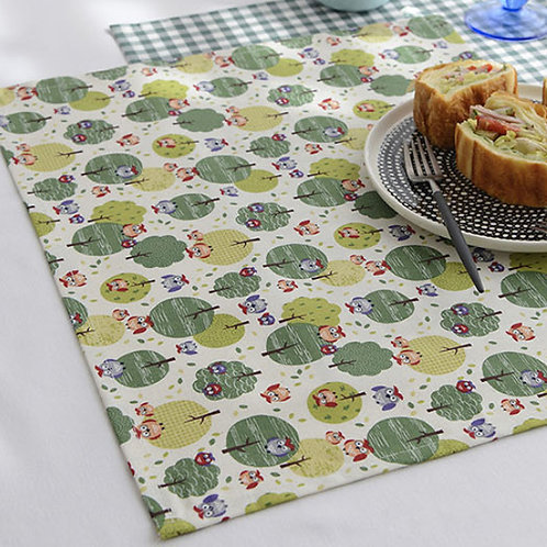 [Animal Pattern] Forest Owl, Oxford Cotton Fabric by the yard, Free Shipping