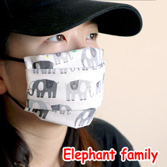 [Mysgreen-Face mask-Animal] Elephant fam