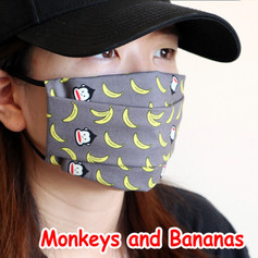 [Mysgreen-Face mask-Animal] Monkey and B