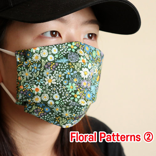 Floral printed 02 face Mask, Washable fabric face mask , Cotton fabric mask