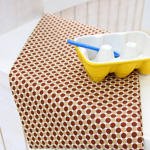 [Dot Pattern] Brown Dot, Oxford Cotton Fabric by the yard, Free Shipping