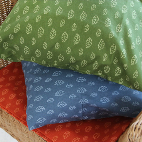 [Floral Patterns] Dancing Leaves, Oxford Cotton Fabric by the yard,Free Shipping