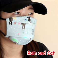 [Mysgreen-Face mask-Animal] Rain and Cat