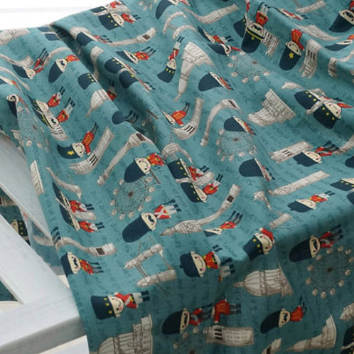 [Lifestyle Pattern] Hello London, 100% Cotton Fabric by the yard, DTP