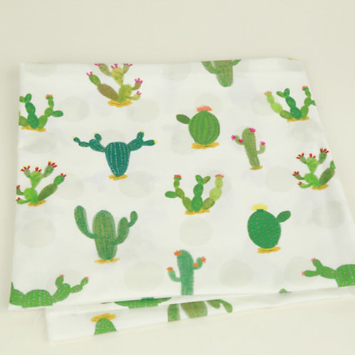 [Floral Pattern] Strong Cactus, 100% Cotton Fabric by the yard, DTP,