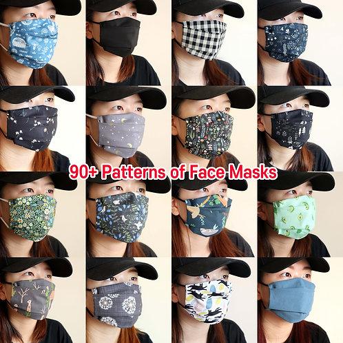 90+ patterns Reusable face masks mask with filter pocket Washable cloth mask