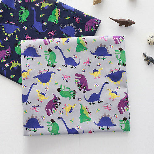 [Animal Pattern] Merry Dinosaur, 100% Cotton Fabric by the yard, DTP