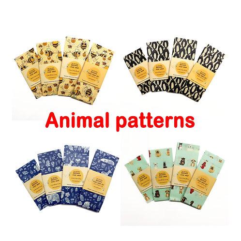 Animal beeswax food wraps, Beeswax Food Wraps, Reusable wrap, Zero Waste,