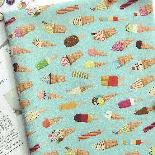 [Food Pattern] Ice Cream, 100% Cotton Fabric by the yard, DTP, Free shipping