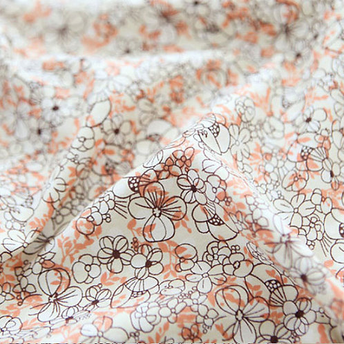 [Floral Pattern] Noble flower, 100% Cotton Fabric by the yard, DTP