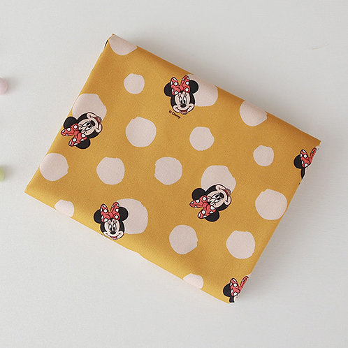 [Disney Pattern] Minnie Mouse print 100% Cotton Fabric by the yard, DTP