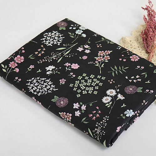 [Floral Pattern] Brilliant Flower print 100% Cotton Fabric by the yard, DTP