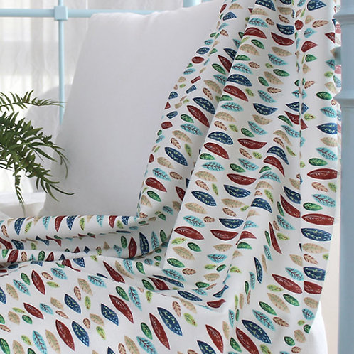 [Floral Pattern] Colorful leaves, 100% Cotton Fabric by the yard, DTP,