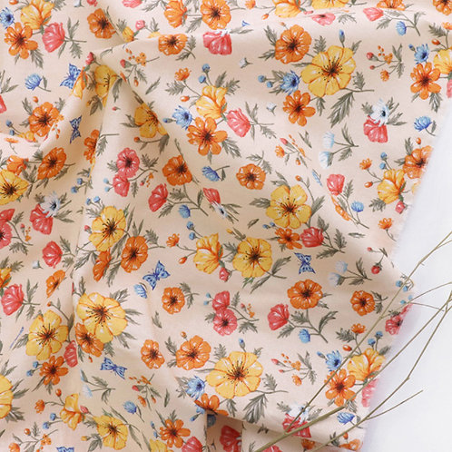 [Floral Pattern] Adonis, 100% Cotton Fabric by the yard, Free Shipping, 110cm
