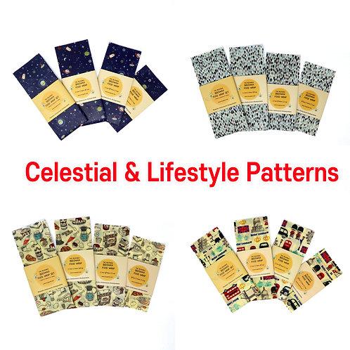Celestial & Lifestyle Beeswax Food Wraps, Reusable wrap, Zero Waste Beeswax wrap