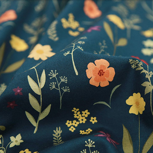 [Floral Pattern] Panzi print 100% Cotton Fabric by the yard, DTP