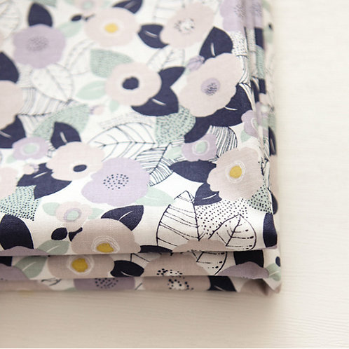 [Floral Pattern] Lavender, 100% Cotton Fabric by the yard, Free shipping