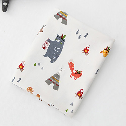 [Animal Pattern] Camping fire, Oxford Cotton Fabric by the yard, Free Shipping