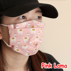 [Mysgreen-Face mask-Animal] Pink Llama.J