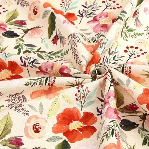 [Floral Pattern] Peony, 100% Cotton Fabric by the yard, DTP, Free shipping