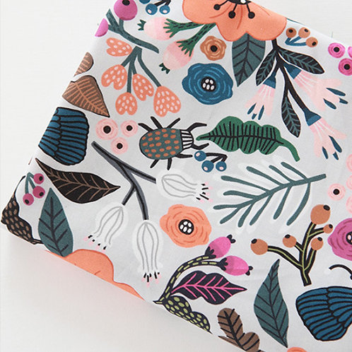 [Animal Pattern] Wild Flower and Insect print 100% Cotton Fabric by the yard DTP