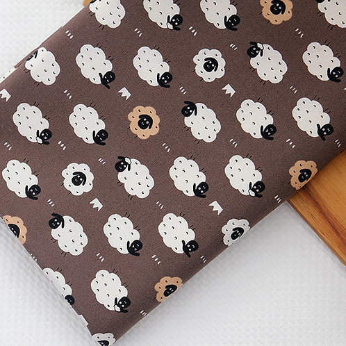 [Animal Pattern] Baby Sheep, 100% Cotton Fabric by the yard, Free Shipping,