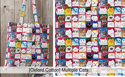 [Animal-Cat] Multiple Cats [Oxford Cotto