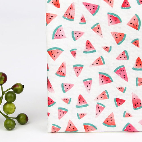 [Food Pattern] Delicious Watermelon, 100% Cotton Fabric by the yard, DTP