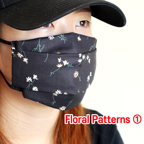 Floral printed 01 face Mask, Washable fabric face mask , Cotton fabric mask