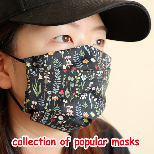 Reusable Cotton Face Mask with Filter Pocket, Washable, Kids mask, Free sizeree