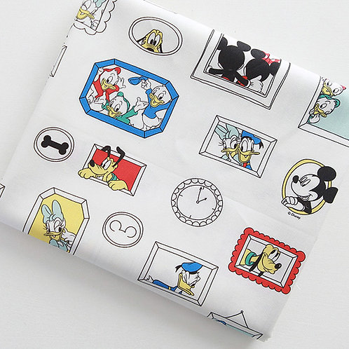 [Disney Pattern] Mickey Mouse Family print 100% Cotton Fabric by the yard Donald