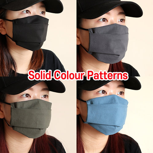Solid Colour face Mask, Washable fabric face mask , Cotton fabric mask