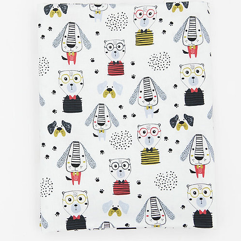 [Animal Pattern] Stylish Puppy print 100% Cotton Fabric by the yard DTP