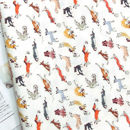 [Animal Pattern] Happy Puppy, 100% Cotton Fabric by the yard, DTP, Free shipping