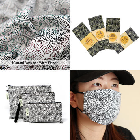 [Mysgreen Products-Floral] Black and Whi