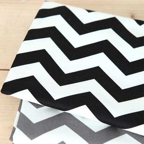 [Chevron Pattern] Zigzag, Oxford Cotton Fabric by the yard, Free Shipping