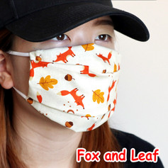 [Mysgreen-Face mask-Animal] Fox and Leaf