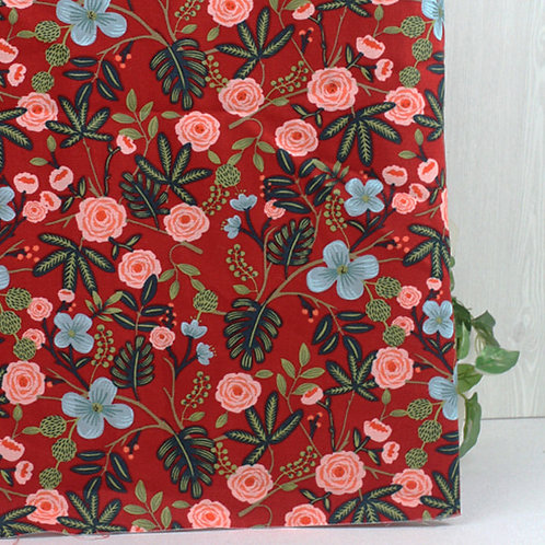 [Floral Pattern] Botanical Design print Oxford Cotton Fabric by the yard