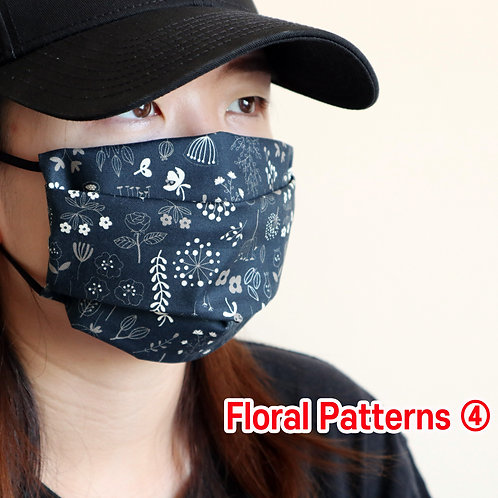 Floral printed 04 face Mask, Washable fabric face mask , Cotton fabric mask
