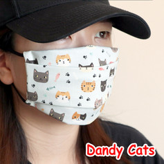 [Mysgreen-Face mask-Animal] Dandy Cats.J