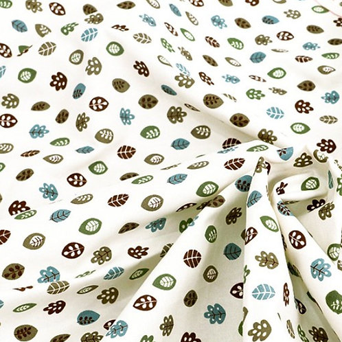 [Floral Pattern] Leaf Story, Oxford Cotton Fabric by the yard, Free Shipping