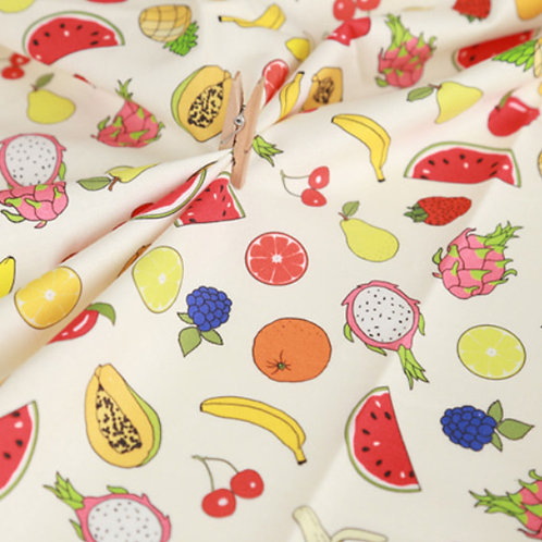 [Food Pattern] Fresh Fruits, 100% Cotton Fabric by the yard, DTP, Free shipping