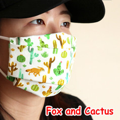 [Mysgreen-Face mask-Animal] Fox and Cact