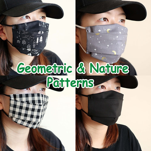 Geometric & Nature Face Mask, Washable mask, face mask , Cotton mask