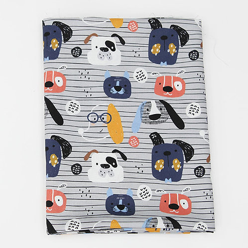 [Animal Pattern] Fashion Star Dog, 100% Cotton Fabric by the yard, DTP