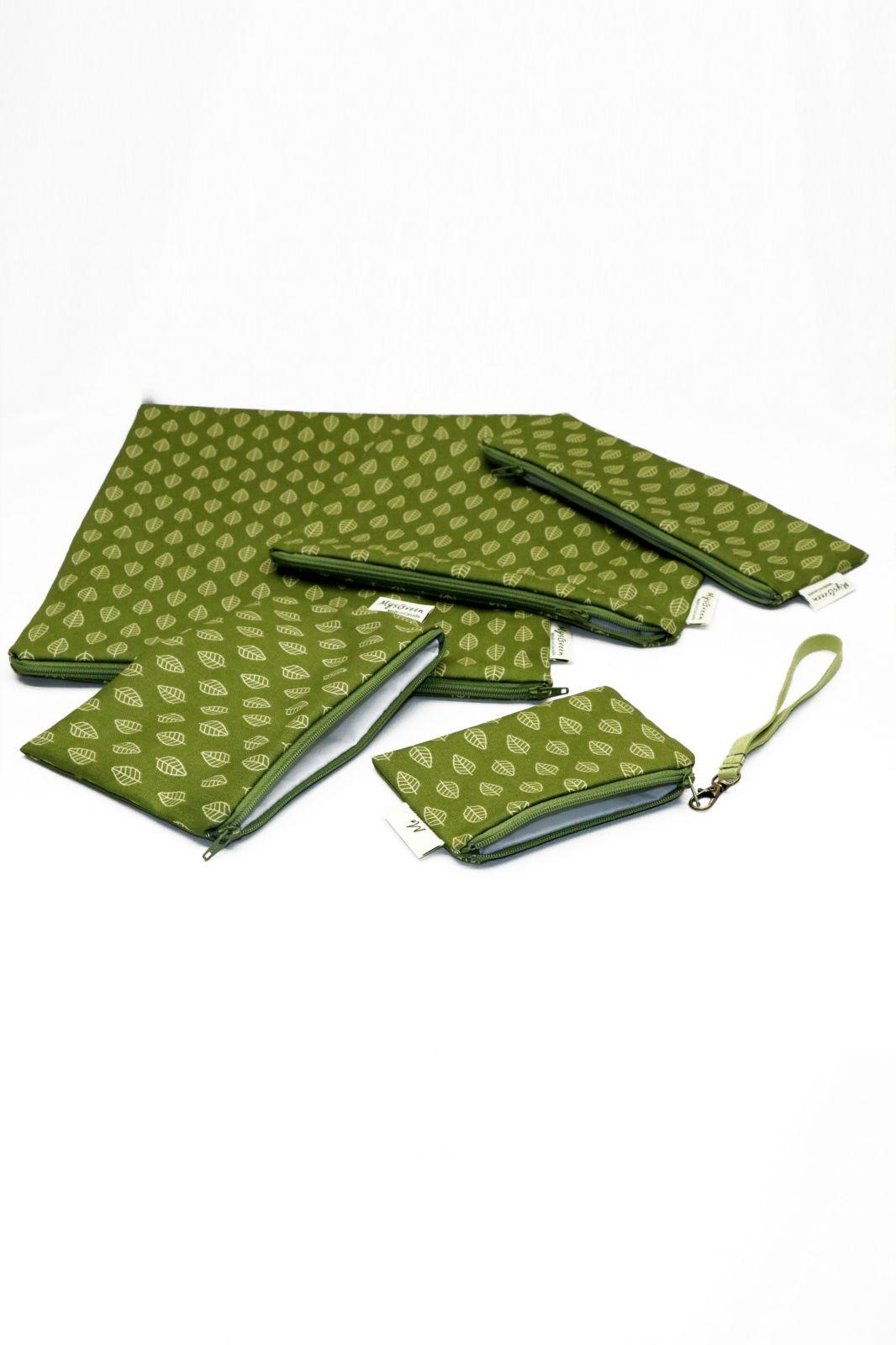 [Pouch Set-Green Leaf] 009