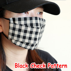 [Mysgreen-Face mask-Check] Black Check P